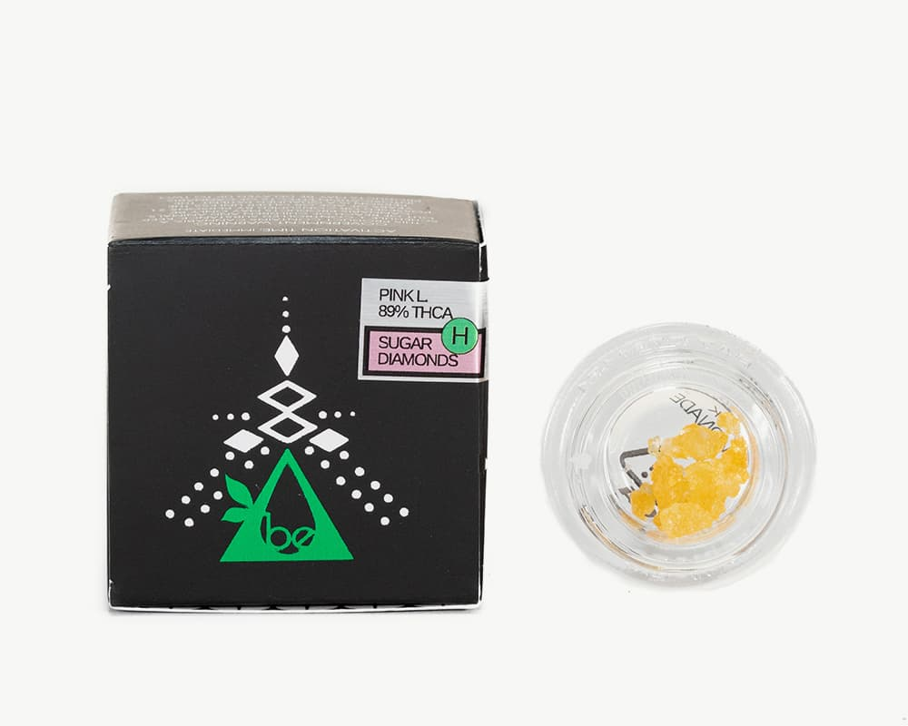 Pink Lemonade Diamonds concentrates Hybrid Strain by Blessed Extracts  | Splitbud Deals