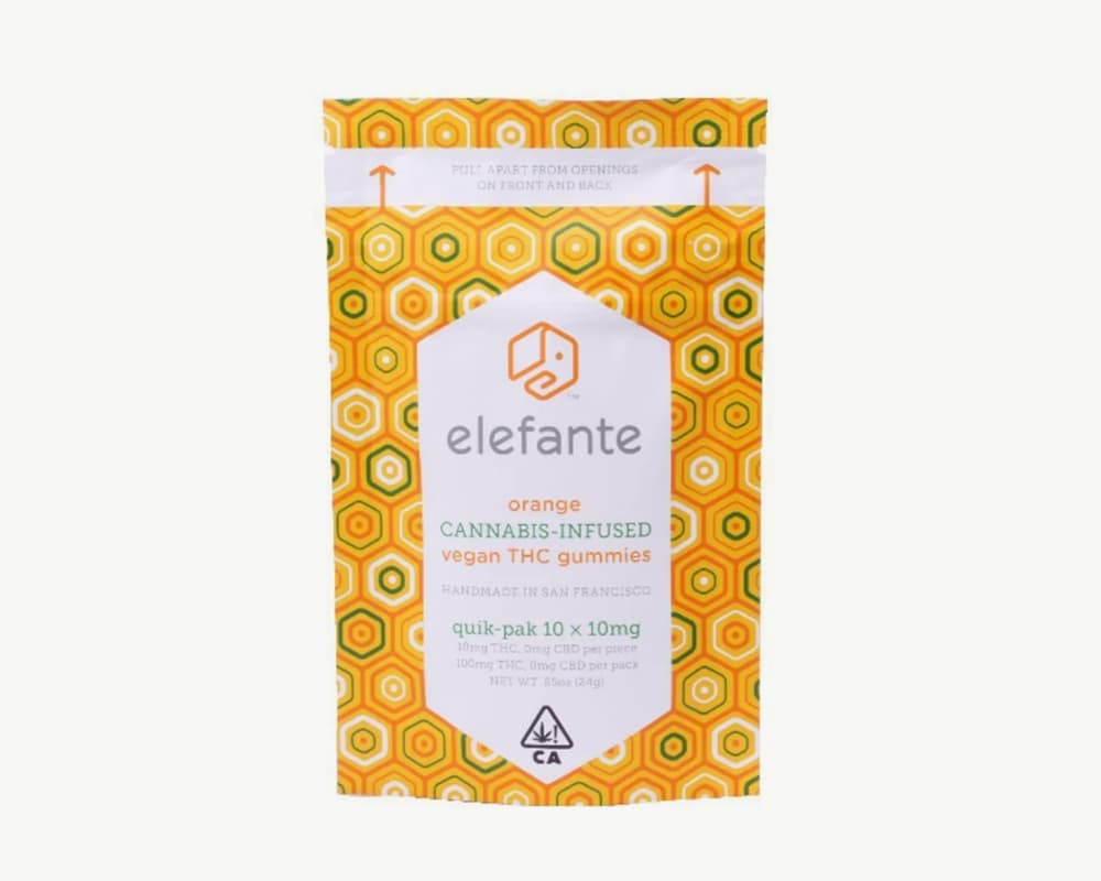 Orange THC Gummies Edibles by Elefante | Splitbud Deals