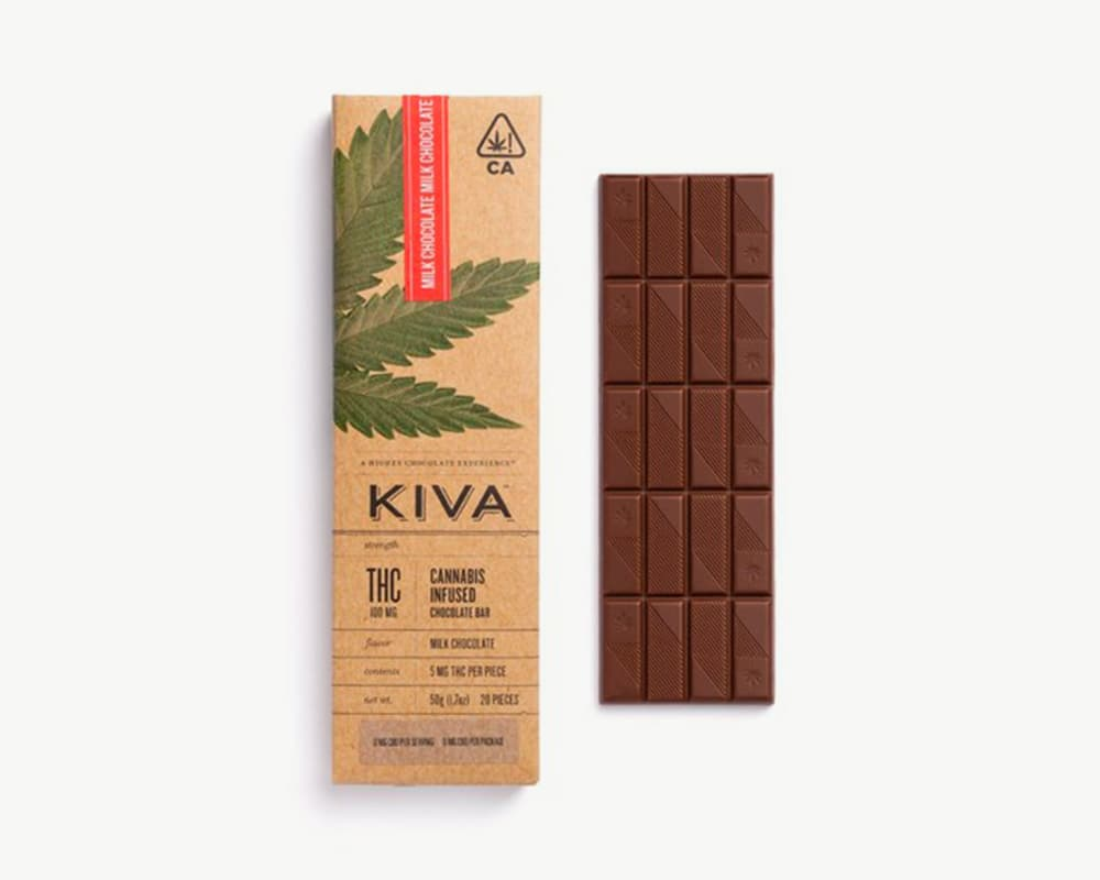 Milk Chocolate Bar edibles by Kiva  | Splitbud Deals