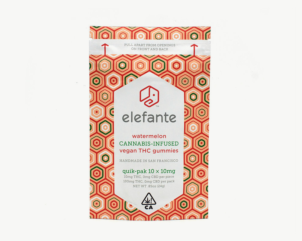 Watermelon THC Gummies Hybrid Strain by Elefante  | Splitbud Deals