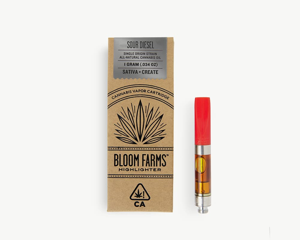 Sour Diesel Cart Sativa Strain by bloom Farms | Splitbud Deals