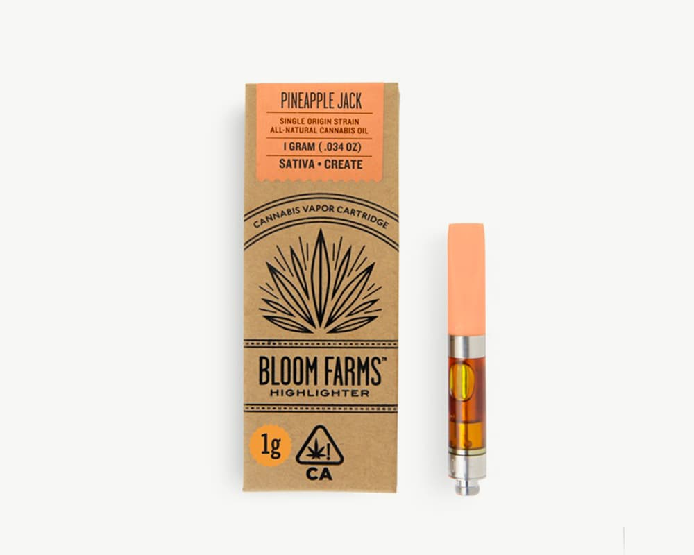 Pineapple Jack C-cell cart Indica Strain by Bloom Farms | Splitbud Deals