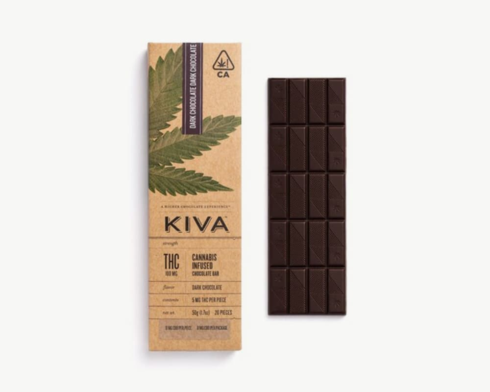 Dark Chocolate Bar edibles by Kiva | Splitbud Deals